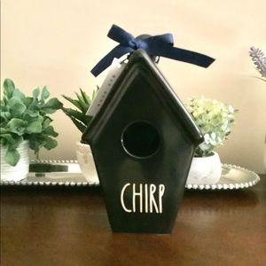 Rae Dunn Black CHIRP Birdhouse 🏡